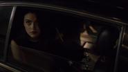 Season 1 Episode 1 The River's Edge Veronica arriving at Riverdale