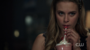 Season 1 Episode 11 To Riverdale and Back Again Polly drinking milkshake
