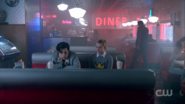 Season 1 Episode 10 The Lost Weekend Betty and Jughead at pop's shoppe