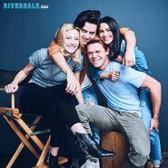 Cast Photo Season 2 Camila Mendes, Cole Sprouse, KJ Apa, and Lili Reinhart