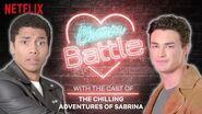 Chilling Adventures of Sabrina Cast Show You How To Flirt Charm Battle Netflix