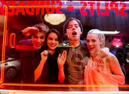 Riverdale cast in front of Pop Tate's first look