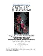 Sabrina Chapter Twenty The Mephisto Waltz Poster Draft