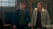 Season 1 Episode 10 The Lost Weekend Jughead and Archie in the garage
