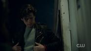 Season 1 Episode 13 The Sweet Hereafter Jughead wearing Southside Serpent jacket 2