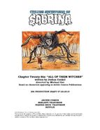 Sabrina Chapter Twenty Six All of Them Witches Poster Draft