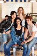 Entertainment Weekly Exclusive Photo KJ Apa, Camila Mendes, Cole Sprouse, and Lili Reinhart