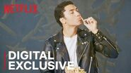 Chance Perdomo Eats His First Poutine Chilling Adventures of Sabrina Netflix