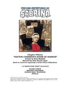 Sabrina Chapter Fifteen Doctor Cerberus's House of Horror Poster Draft