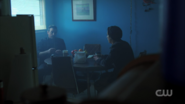 Season 1 Episode 11 To Riverdale and Back Again FP and Jughead at the table