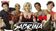 Official Cast Recap of Chilling Adventures of Sabrina Parts 1 & 2 Netflix