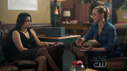 Season 1 Episode 7 In a Lonely Place Betty and Veronica in student lounge