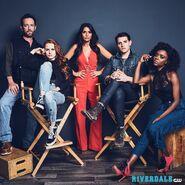 Cast Photo Luke Perry, Madelaine, Petsch, Marisol Nichols, Casey Cott, Ashleigh Murray
