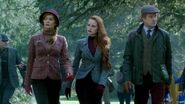 Season 1 Episode 7 In a Lonely Place Cliff, Penelope, and Cheryl in the woods