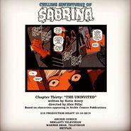 Sabrina Chapter Thirty The Uninvited Poster Draft