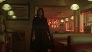 Season 1 Episode 1 The River's Edge Veronica walks inside the diner