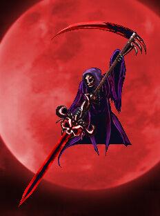 Raimund Seyfarth in the form of the Grim Reaper.