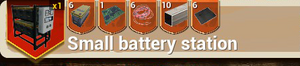 Small Battery Station recipe