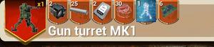 Gun Turret MK1 recipe