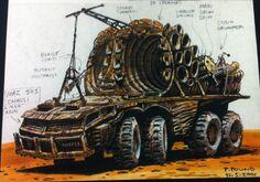 Doof Wagon original design, 31 - 5 - 2001 by Peter Pound