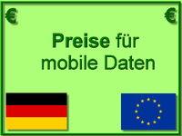 Preise für mobile Daten
