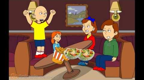 Caillou Misbehaves At The Restaurant Gets Grounded