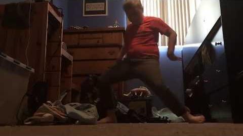 The REAL Fortnite Boogie Down Winner Orange Shirt Kid (Original)