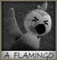 Flamingo Polaroid