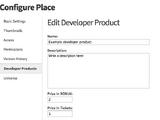Developer product