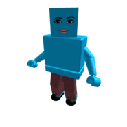Turquoise Woman Face Blockhead Colorbot