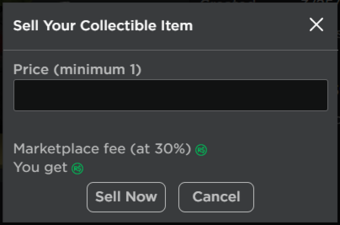 Can You Sell Stuff On Roblox For Robux Limited Item Roblox Wikia Fandom