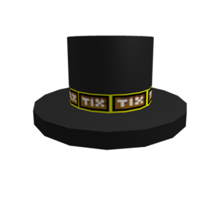 Ticket Banded Top Hat
