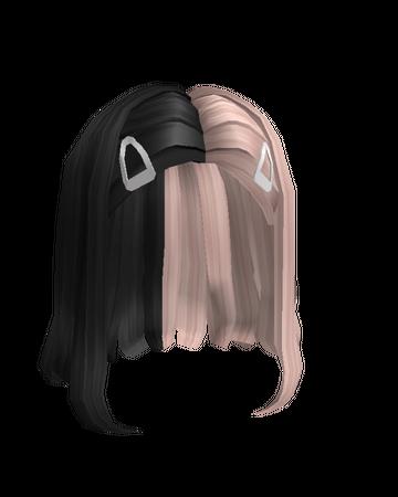 Short Split Blonde Black Hair with Clips Roblox Wiki Fandom