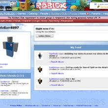 Roblox My Homepage My Feed Roblox Wikia Fandom
