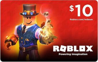 How Much Is A 10 Dollar Robux Gift Card Roblox Card Roblox Wikia Fandom