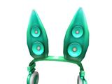 Catalog:Teal Techno Rabbit Headphones