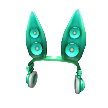 Teal Techno Rabbit Headphones Roblox Wiki Fandom