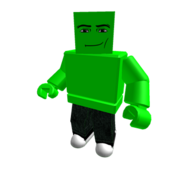 Lime Man Face Blockhead Colorbot