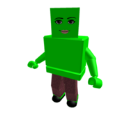 Lime Woman Face Blockhead Colorbot
