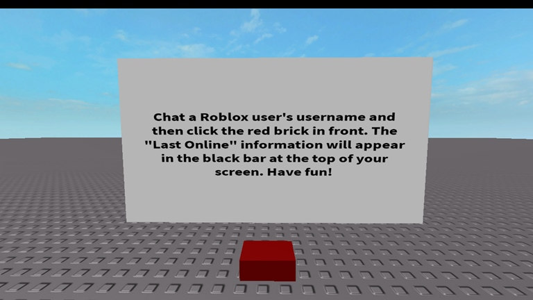 "Alexrocks911/Check a Roblox User's ""Last Online"" Information"