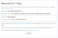 Banned for 1 Day (new interface)
