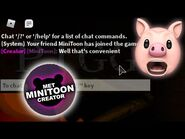 MINITOON JOINED MY GAME!! - Roblox Piggy Build Mode