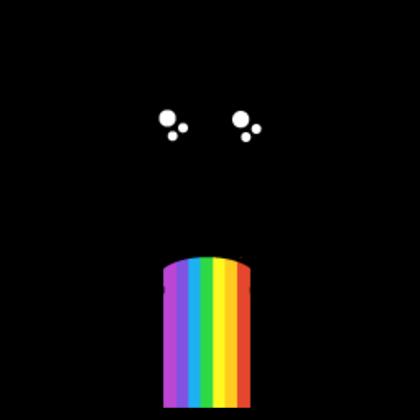 Rainbow Barf Face