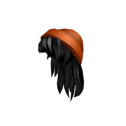 Asthetic Roblox Character With Black Hair Catalog Orange Beanie With Black Hair Roblox Wikia Fandom