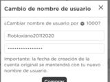 Nombre de usuario