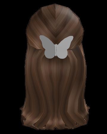 Brown Hair w Butterfly Clip Roblox Wiki Fandom