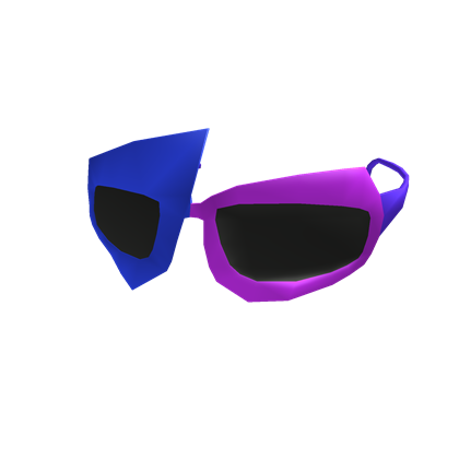 Blue 80's Shades