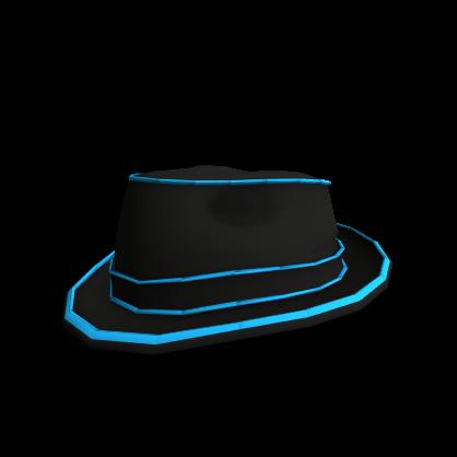 Blue Neon Lights Fedora