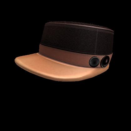 Brown Button Cap