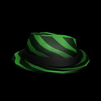 Black and Green Striped Fedora